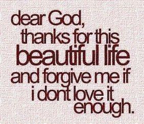 thanks beautiful life